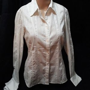 White Fitted Button Down Shirt